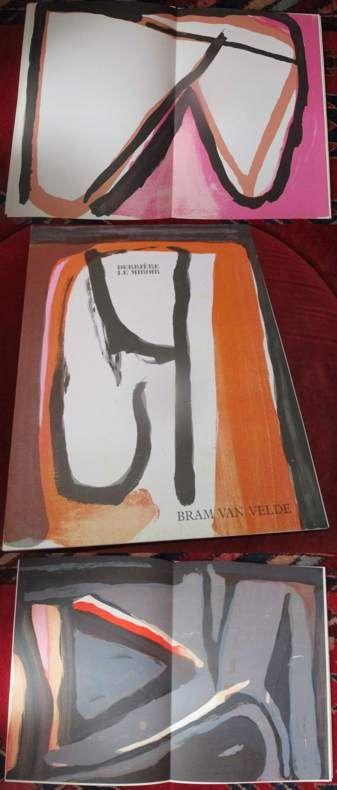 Derriere Le Miroir. Bram van Velde. Numéro 240. Octobre 1980. Illustré de deux lithographies originales (2 Original-Lithographien)