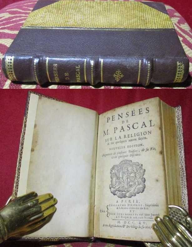 Pensées de M. Pascal sur la religion & sur quelques autres sujets. Nouvelle édition. augmentée de plusieurs pensées, de sa vie et de quelques discours.