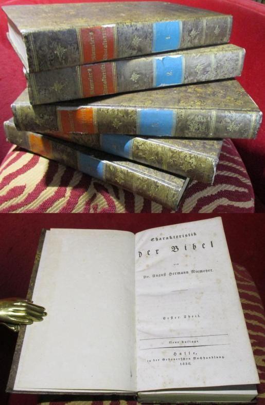 August Hermann Niemeyer Charakteristik der Bibel. 5 Bände
