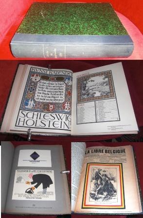 """""""Archiv für Buchgewerbe"""" Jahrgänge 1919  + Bd. 56. Beigebunden """"Zeitschrift des Vereins für Buchwesen und Schrifttum"""" Bd. II"""