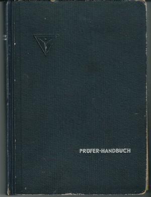 Prüfer Handbuch Junkers Flugzeug- und Motorenwerke AG Motorenbau Stammwerk Dessau